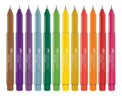 Kit - Lápis de Cor 60 Cores Aquarela + 3 Estojos Fine Pen Exclusivos Faber-Castell