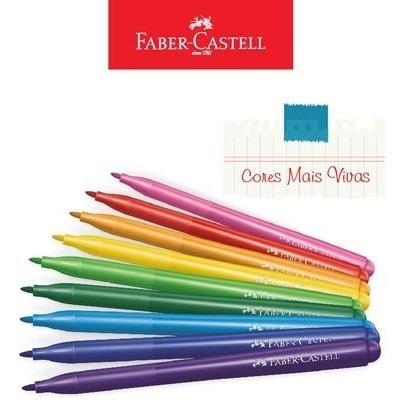 Kit - Lápis de Cor 60 Cores Aquarela + Canetinhas Hidrográficas Vai E Vem 24 Cores Faber-Castell