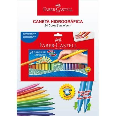 Kit - Lápis de Cor Caras e Cores 30 Cores + Canetinhas Hidrográficas Vai e Vem 24 Cores Faber-Castell