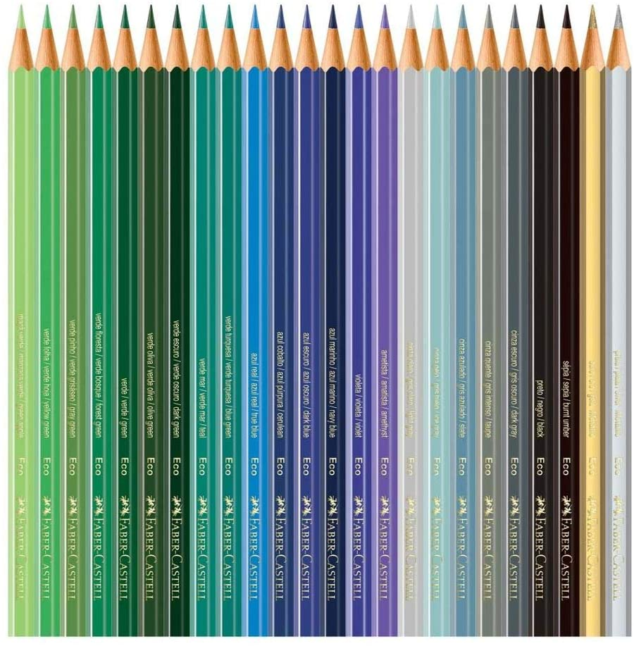 Kit - Lápis de Cor Compactor Super Gel 12 Cores + Lápis de Cor Faber-Castell 72 Cores + Bloco para Desenho Credeal com 20 Folhas 150g