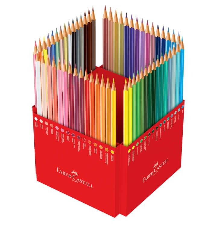 Kit - Lápis de Cor Faber-Castell 60 Cores + Canetas Marcadoras Sharpie 8 Cores