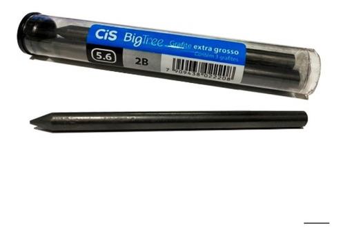 Kit - Lapiseira Tecnocis Cinza 5.6mm + Tubo Com 3 Grafites 5.6mm