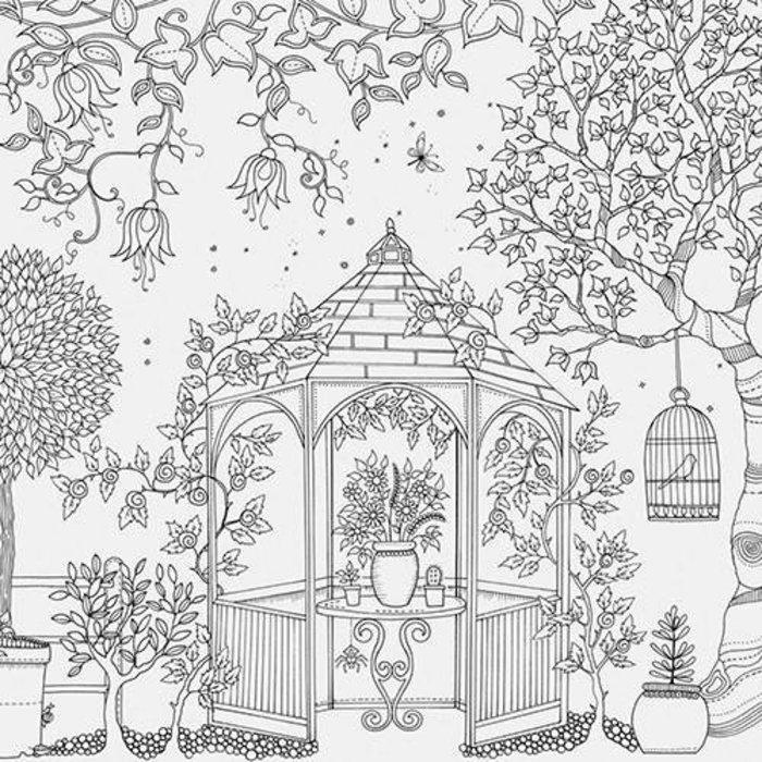Kit - Livro de Colorir Antiestresse Jardim Secreto + Lápis de Cor Faber-Castell Supersoft com 24 Cores