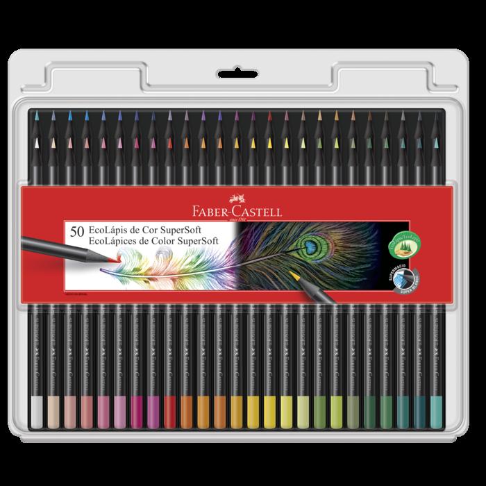 Kit - Livro de Colorir Antiestresse Selva Mágica + Lápis de Cor Faber-Castell Supersoft 50 Cores
