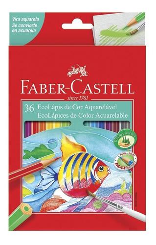 Kit - Livro Jardim Secreto + Lápis de Cor 36 Cores Aquarela Faber Castell