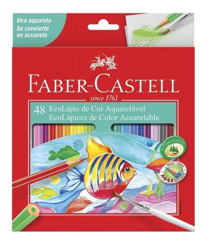 Kit - Livro para Colorir Antiestresse Jardim Secreto + Lápis de Cor 48 Cores Aquarela Faber-Castell