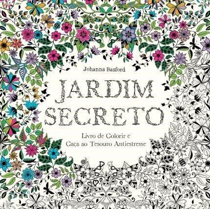 - Kit - Livro para Colorir Antiestresse Jardim Secreto + Lápis de Cor Profissional 100 Cores Compactor Art Colors