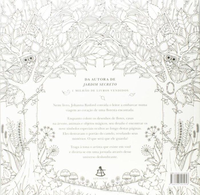 Kit - Livro para Colorir Floresta Encantada + Lápis de Cor 24 Cores Faber-Castell Supersoft