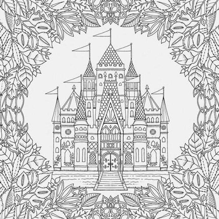 Kit - Livro para Colorir Floresta Encantada + Lápis de Cor 60 Cores Aquarela Faber-Castell