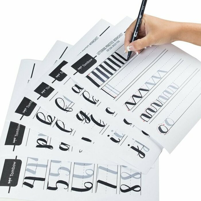 Kit para Lettering com 6 Unidades Tombow Iniciante