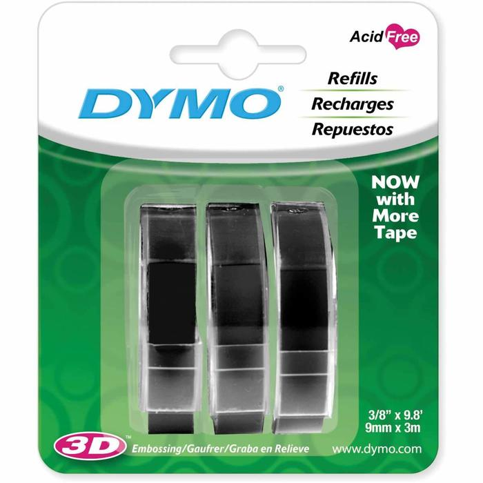 Kit - Rotulador Manual Dymo Organizer XPress 12965 + 3 Fitas Pretas