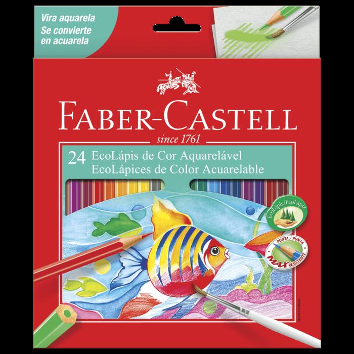 Lápis de Cor Aquarela com 24 Cores Faber-Castell