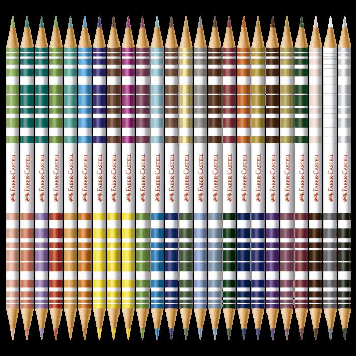 Lápis de Cor Bicolor com 48 Cores Faber-Castell