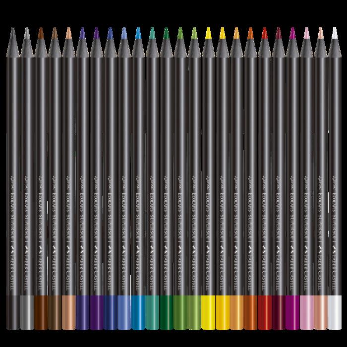 Lápis De Cor com 24 Cores Faber-Castell Supersoft