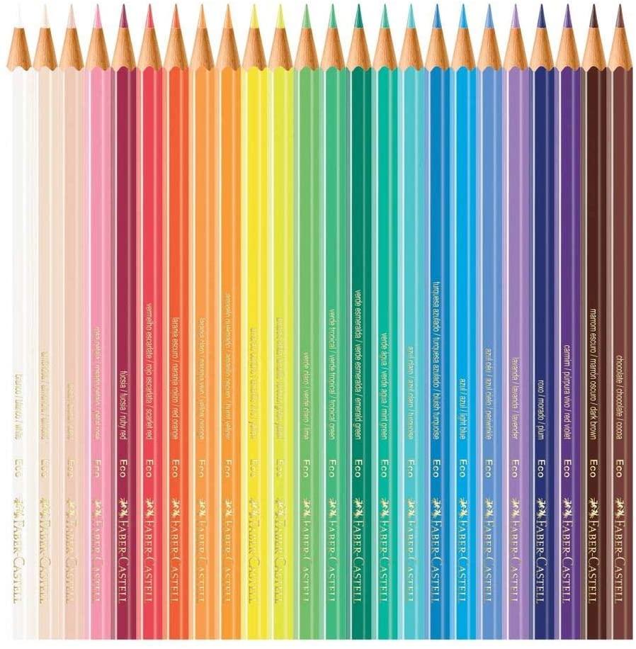Lápis de Cor com 72 Cores Faber-Castell + 1 Apontador