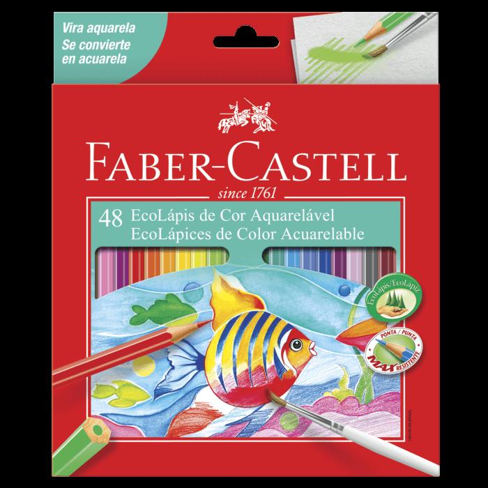 Lápis de Cor Faber-Castell 48 Cores Aquarela