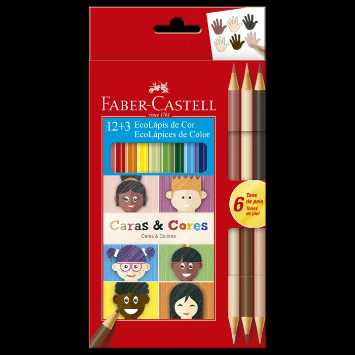 Lápis de Cor Faber-Castell Caras e Cores 18 Cores
