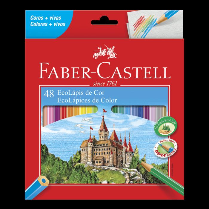 Lápis de Cor Sextavado com 48 Cores Faber-Castell