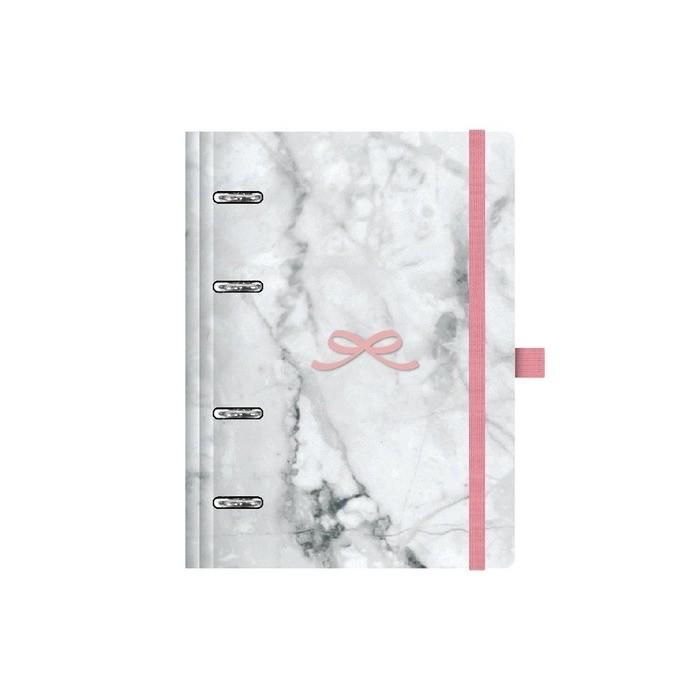 Planner Ótima Gráfica Maxi com 4 Argolas Mármore