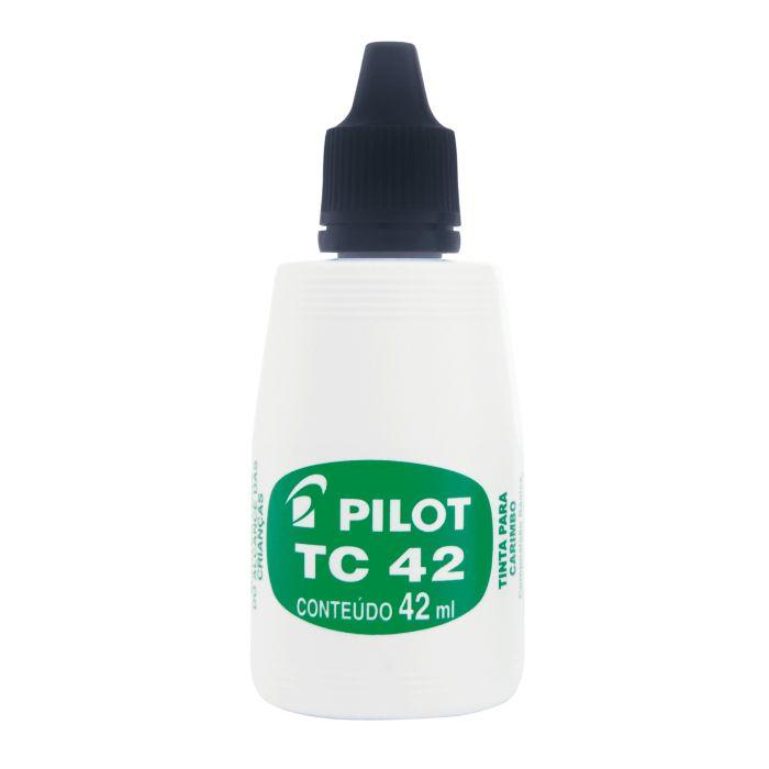 Tinta para Carimbo com 42ml Pilot TC42 Preta