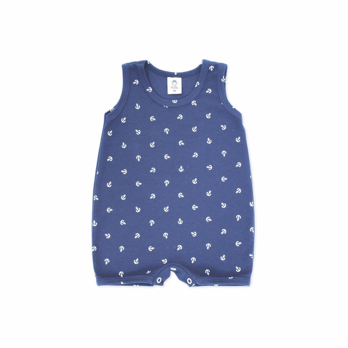 Macacão Bebê Âncora  - Piu Blu