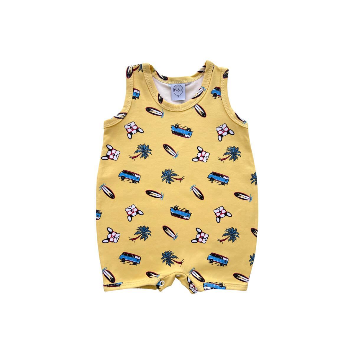 Banho de Sol Surf Amarelo  - Piu Blu