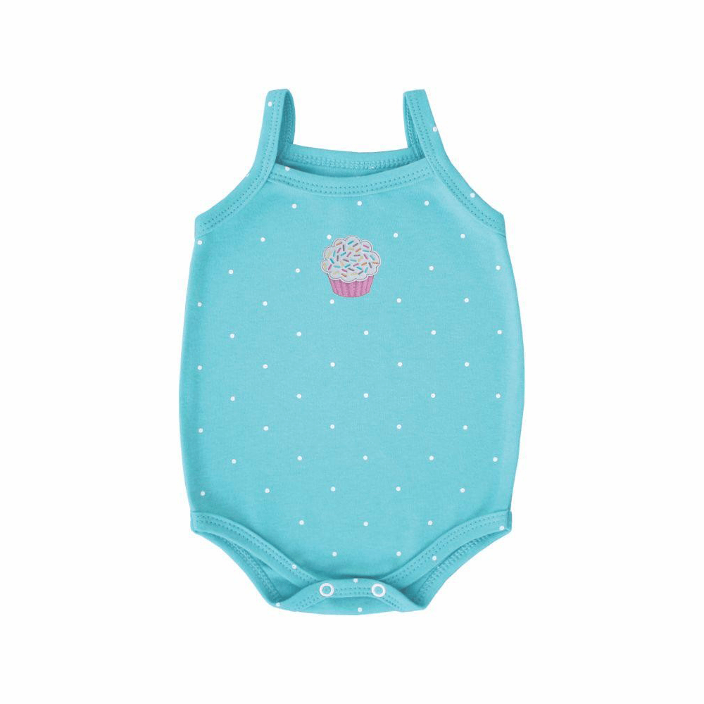 Body Bebê Alcinha Cup Cake  - Piu Blu