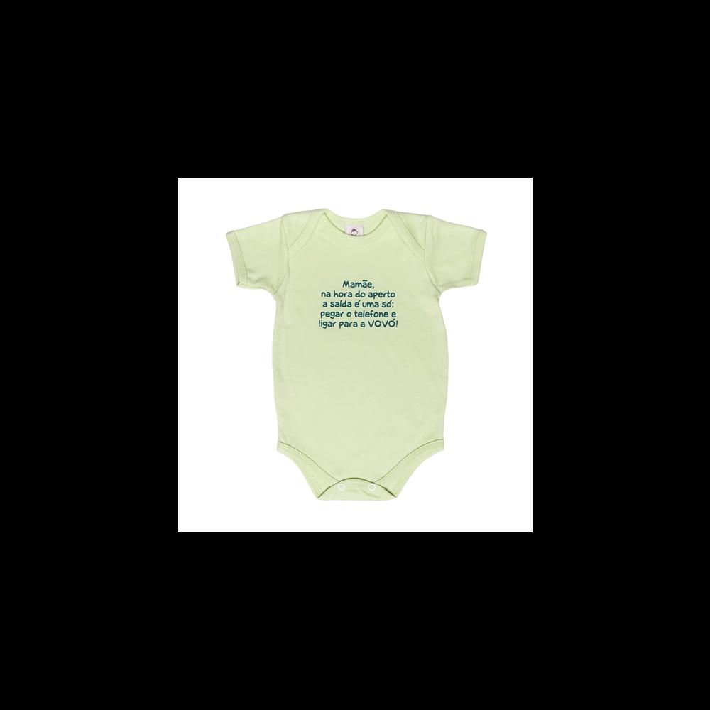 Body Bebê Frase Manga Curta Ligar para  Vovó