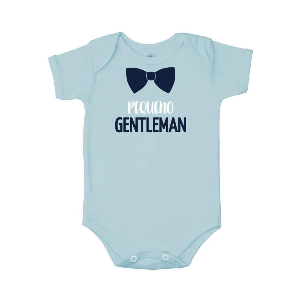 Body Bebê Frase Manga Curta Pequeno Gentleman  - Piu Blu