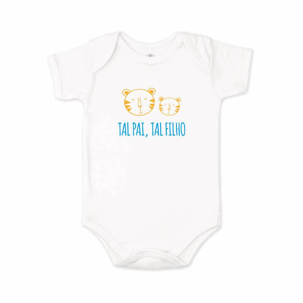 Body Bebê Frase Manga Curta Tal Pai, Tal Filho  - Piu Blu