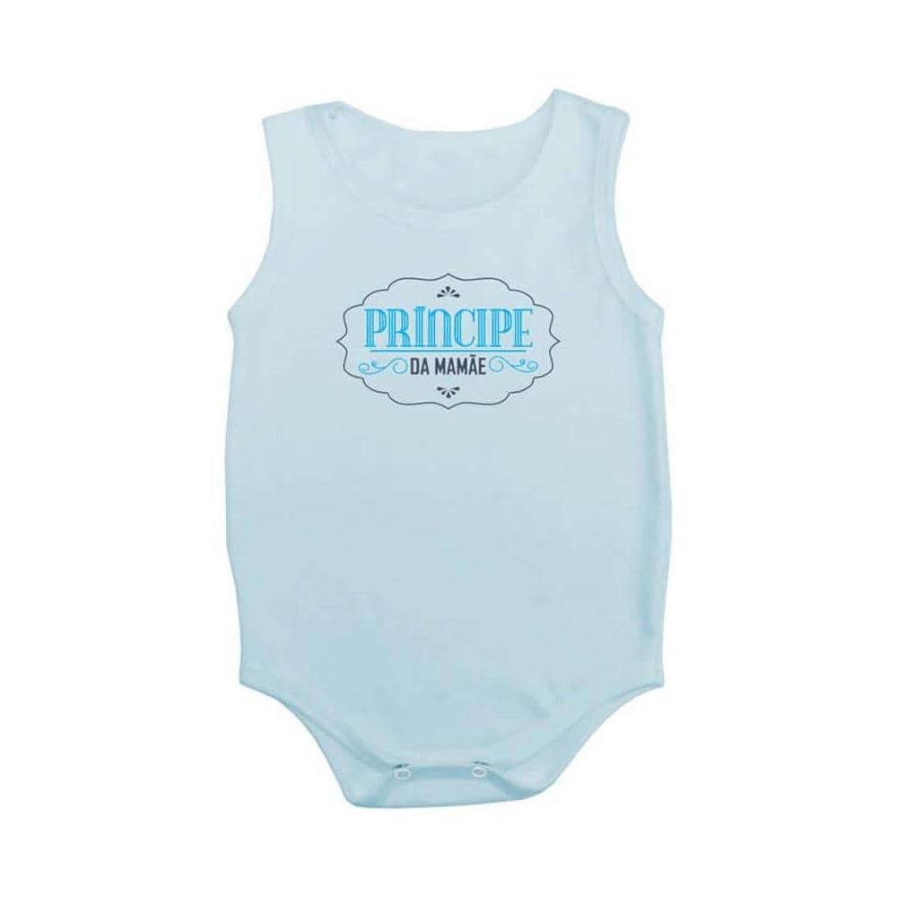 Body Bebê Frase Regata Príncipe da Mamãe  - Piu Blu