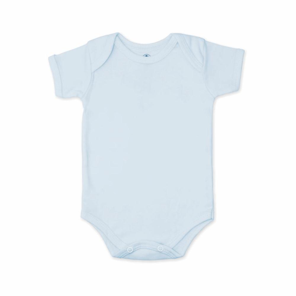 Body Bebê Manga Curta Básico Azul - 1 ao 3  - Piu Blu