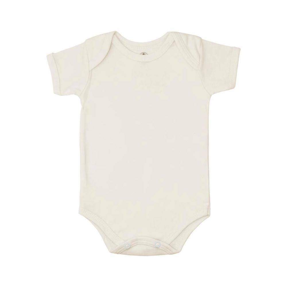 Body Bebê Manga Curta Básico Off-White