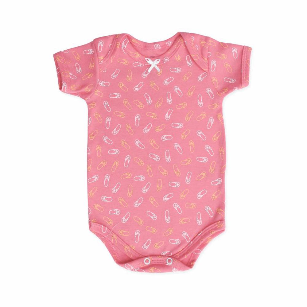 Body Bebê Manga Curta Chinelinhos  - Piu Blu