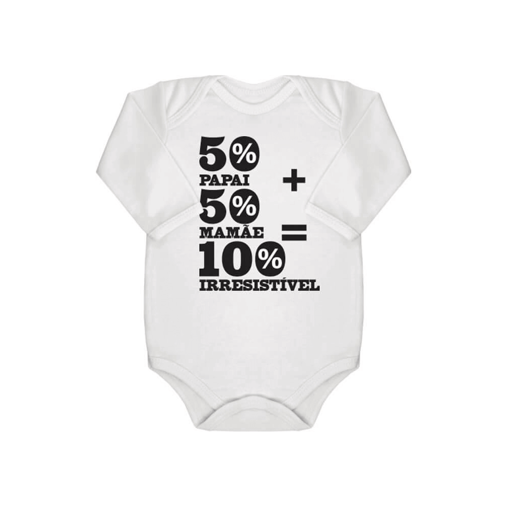 Body Bebê Manga Longa Irresistível Branco