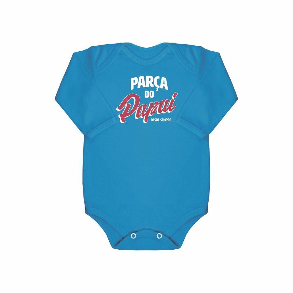 Body Bebê Manga Longa Parça do Papai