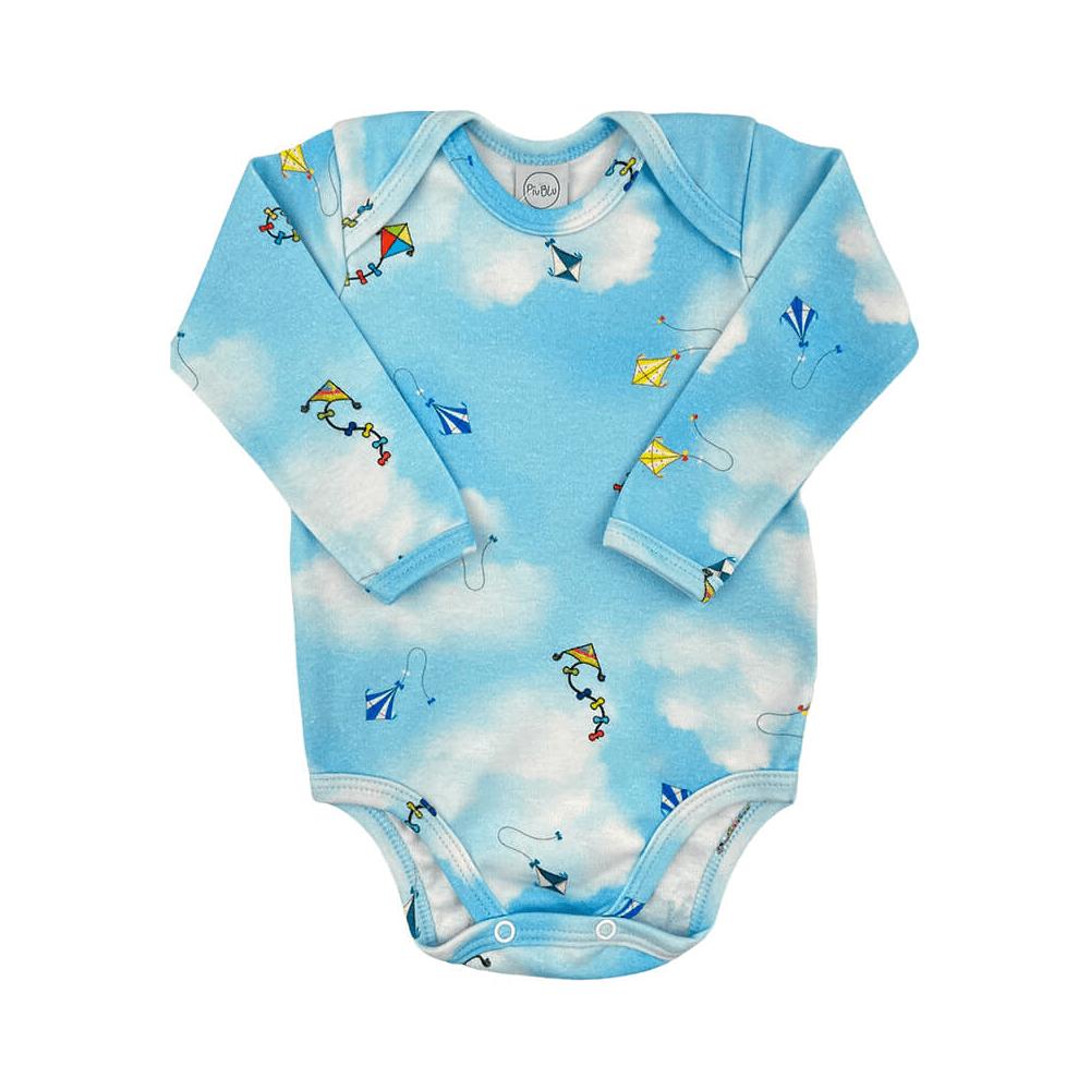 Body Bebê Manga Longa Pipa  - Piu Blu