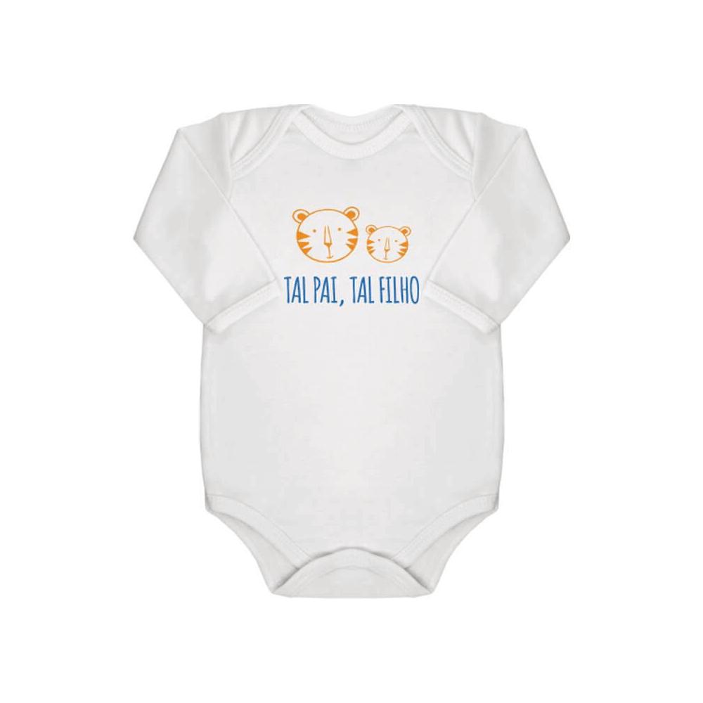 Body Bebê Manga Longa Tal Pai, Tal Filho