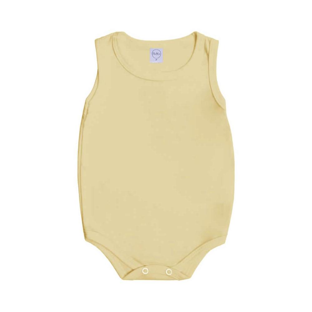 Body Bebê Regata Básico Amarelo