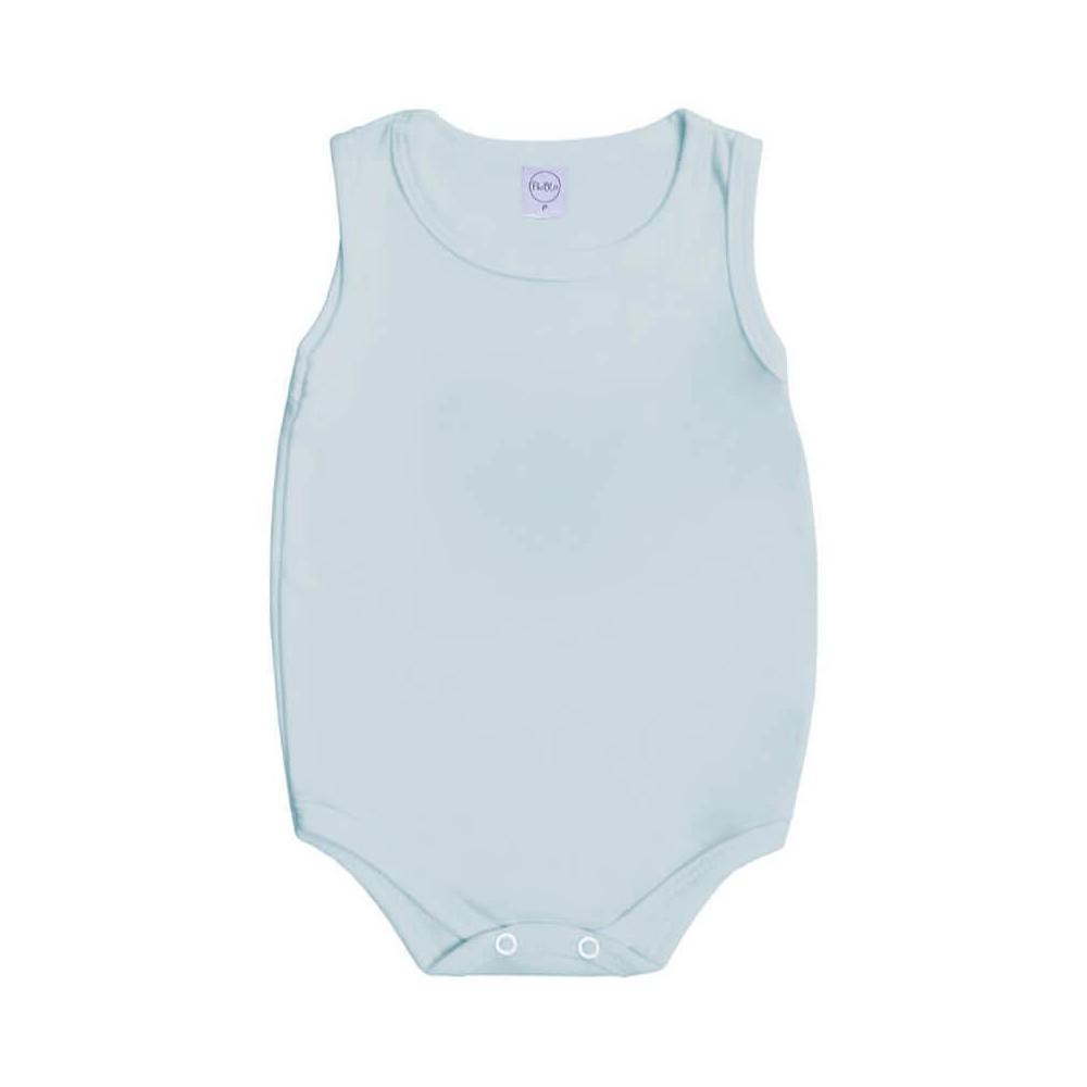 Body Bebê Regata Básico Azul