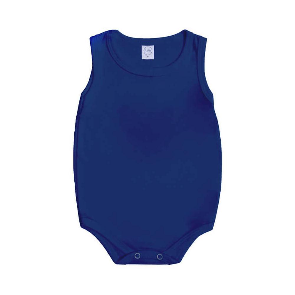 Body Bebê Regata Básico Azul Marinho