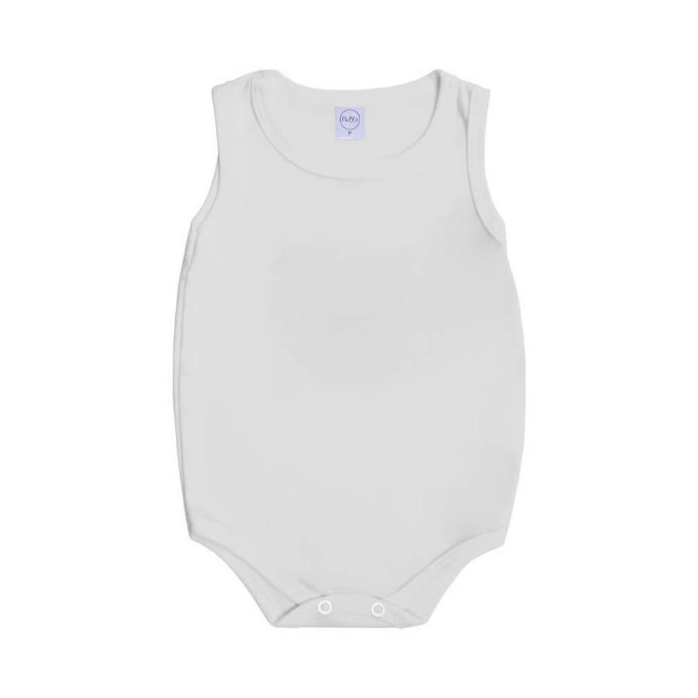 Body Bebê Regata Básico Branco  - Piu Blu