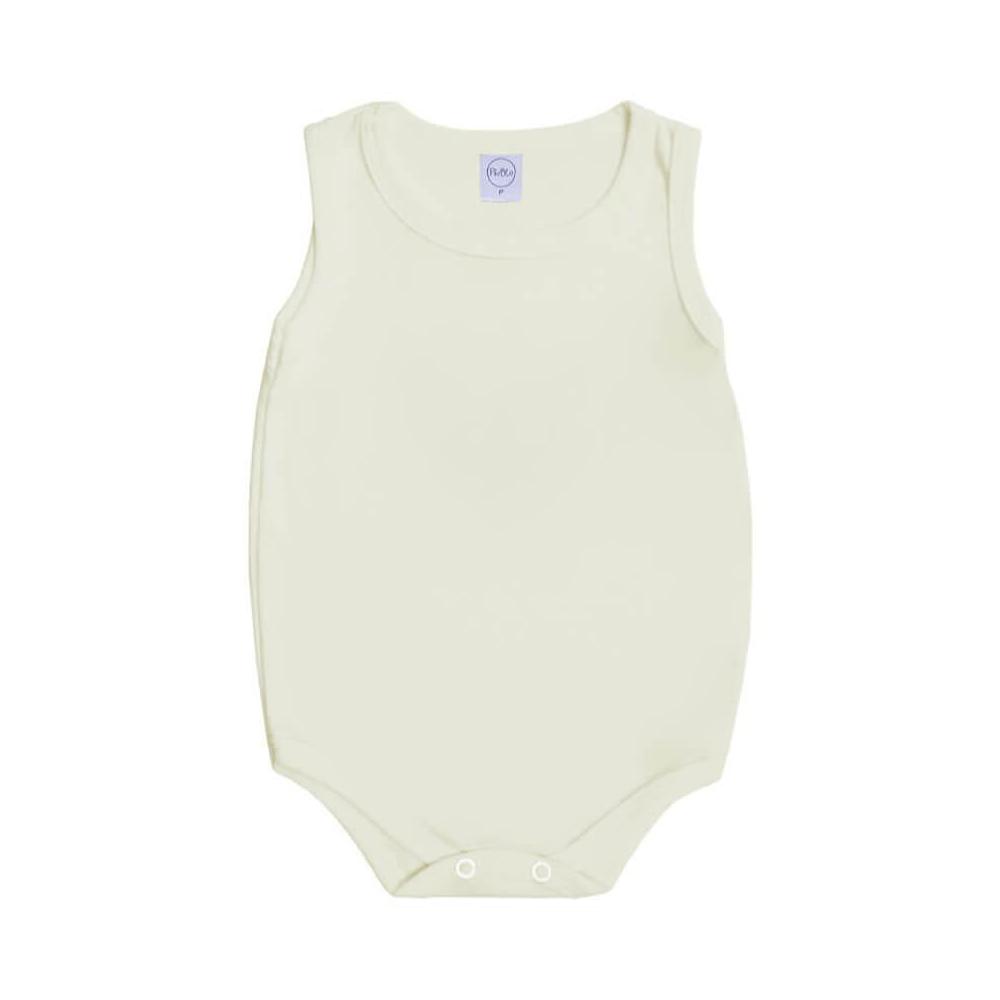 Body Bebê Regata Básico Off-White  - Piu Blu