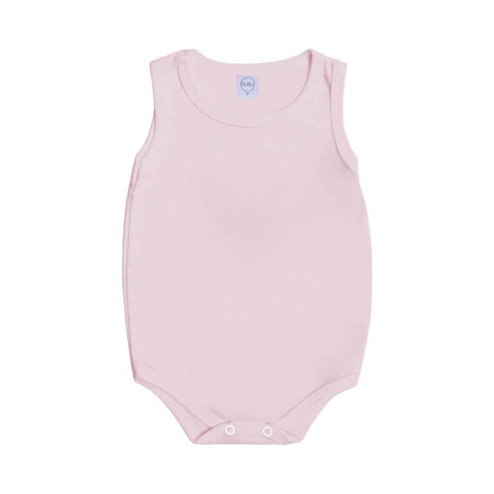 Body Bebê Regata Básico Rosa  - Piu Blu
