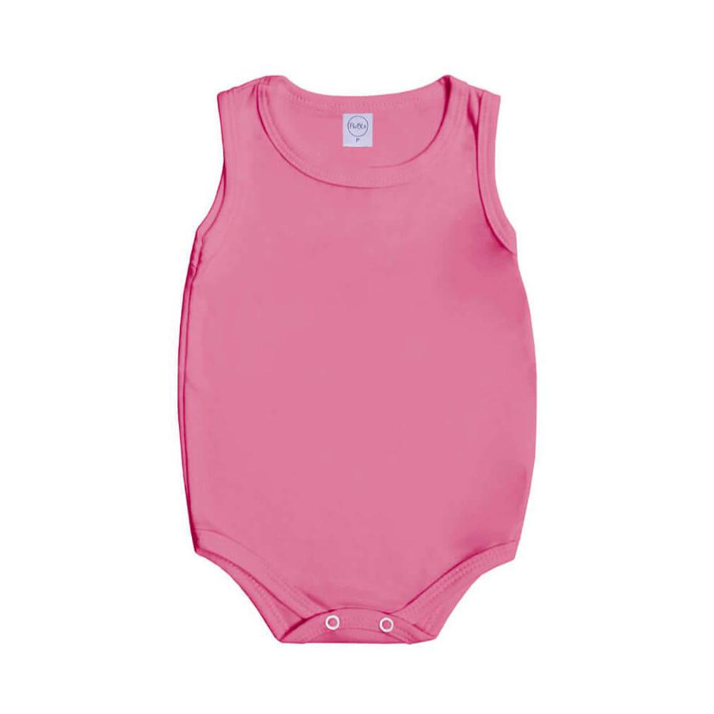 Body Bebê Regata Básico Rosa Chiclete