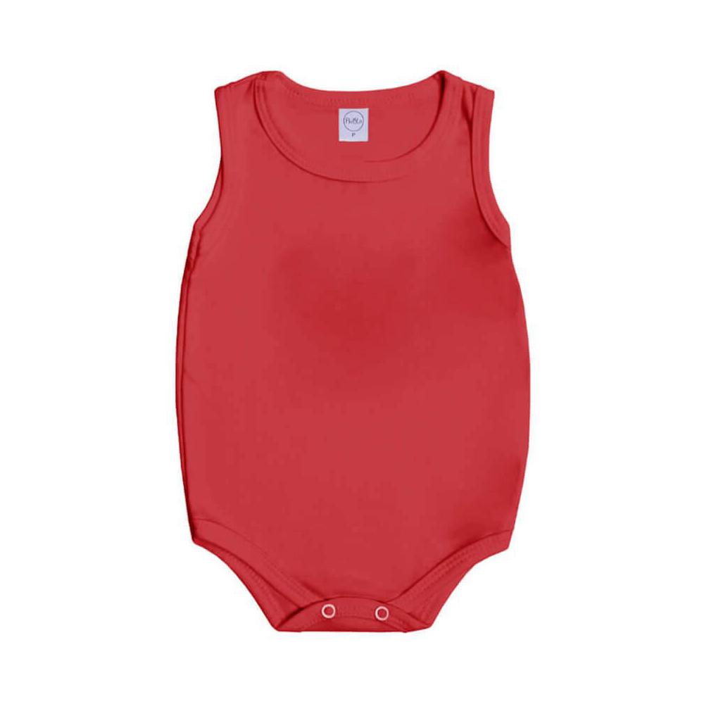 Body Bebê Regata Básico Vermelho  - Piu Blu