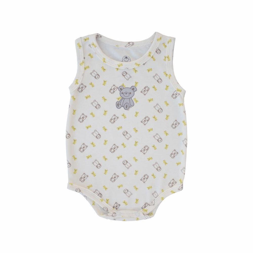 Body Bebê Regata Ursinho  - Piu Blu