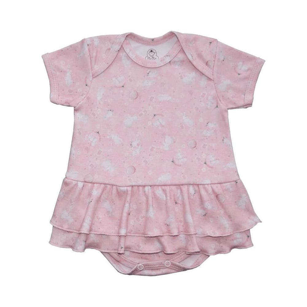 Body Bebê Saia Coelhinhos  - Piu Blu