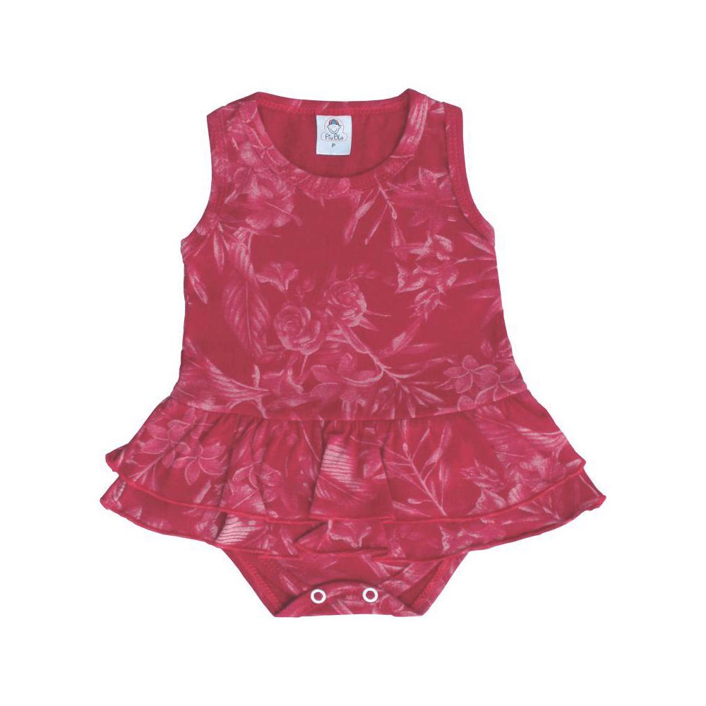 Body Bebê Saia Floral  - Piu Blu