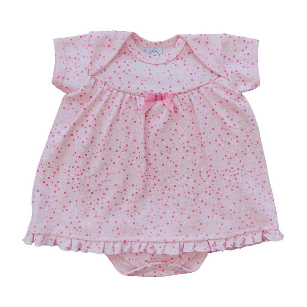 Body Bebê Vestido Bolinhas